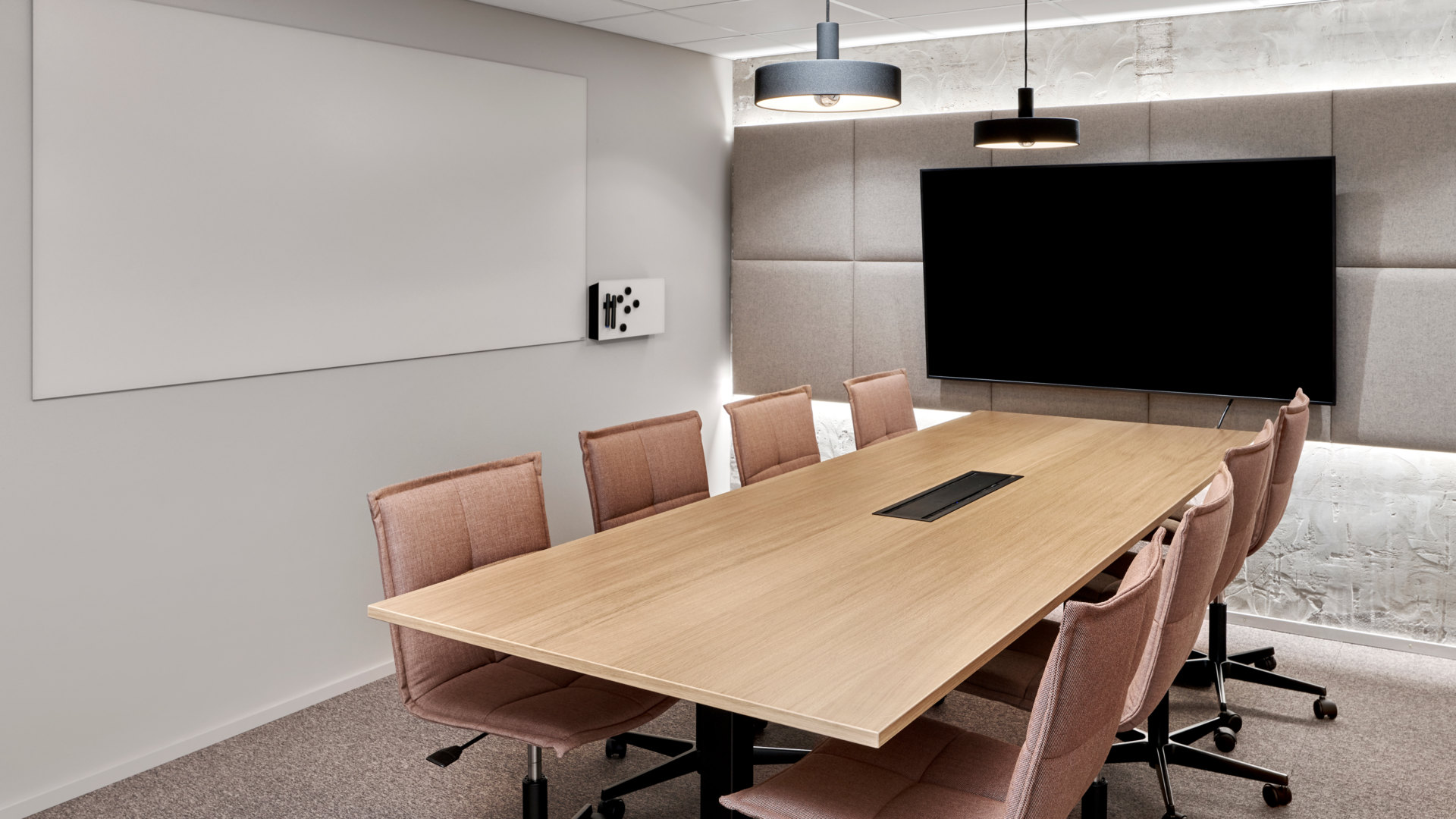 Orion, office, meeting room, earthy tones, industrial, Kohina